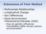 extensions of twin method