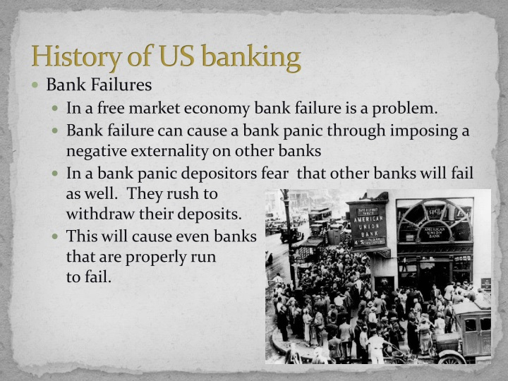 the cause of bank failure Chapter 3 modes and causes of bank failures 35 causes of failure the actual causes of bank erosion related to hydraulic and geotechnical modes of failure are.