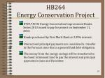 hb264 energy conservation project
