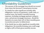 affordability guidelines