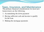 taxes insurance and maintenance