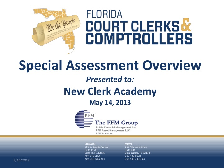 special assessment overview presented to new clerk academy may 14 2013 n.