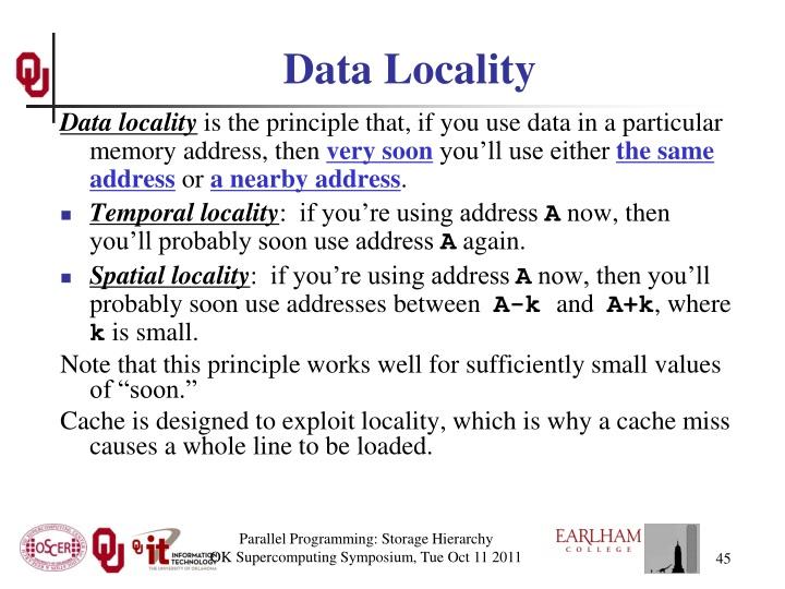 Data Locality