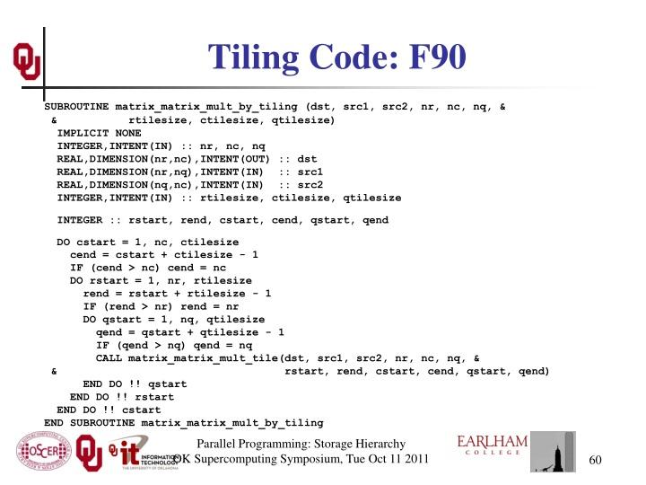 Tiling Code: F90