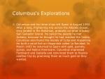 columbus s explorations