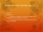 england s first colonies pg 23