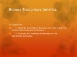 europe encounters america
