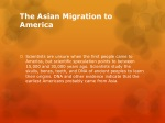 the asian migration to america