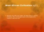 west african civilization pg21