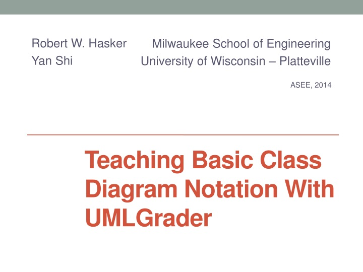 Ppt teaching basic class diagram notation with umlgrader milwaukee school of engineering ccuart Choice Image