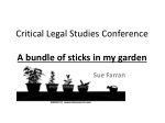 critical legal studies conference a bundle of sticks in my garden