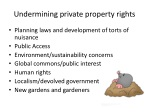 undermining private property rights