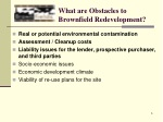 what are obstacles to brownfield redevelopment