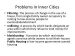 problems in inner cities
