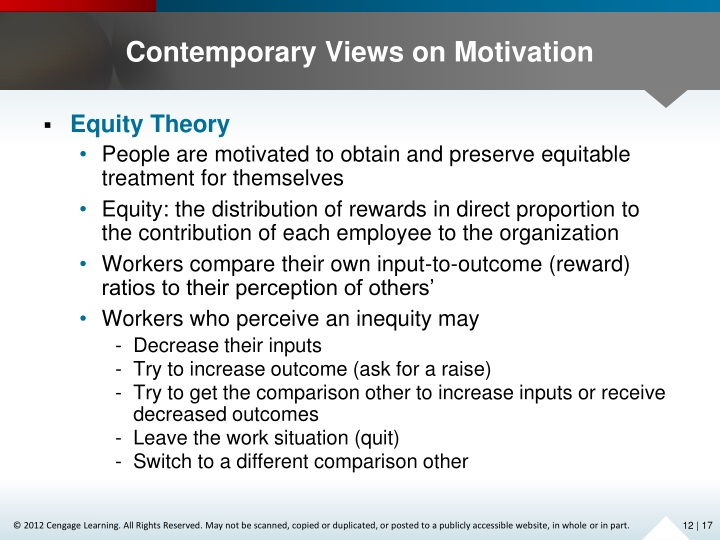 contemporary views of motivation