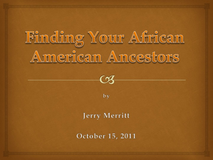 finding your african american ancestors n.