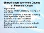 shared macroeconomic causes of financial crises