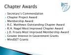 chapter awards