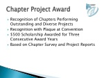 chapter project award