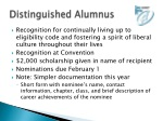 distinguished alumnus