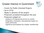 greater interest in government