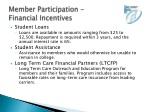member participation financial incentives