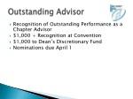 outstanding advisor