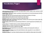vocabulary page i