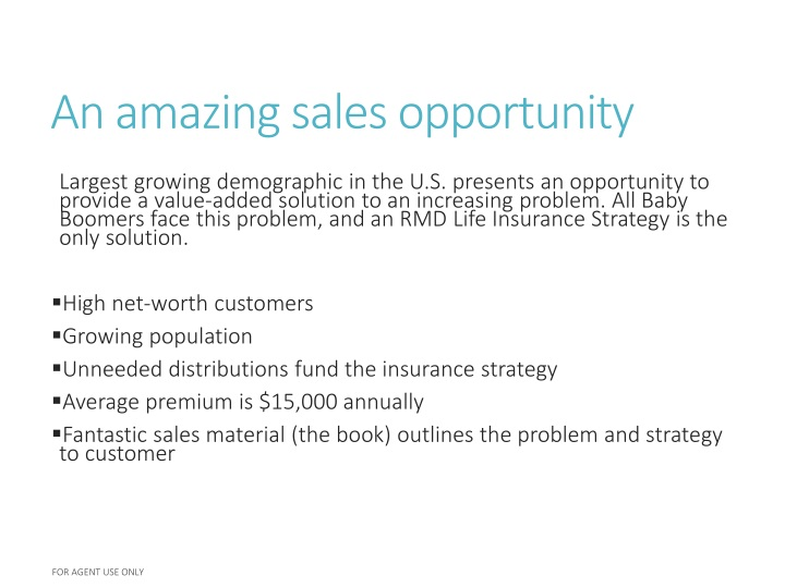 An amazing sales opportunity