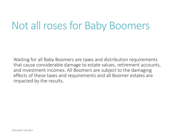 Not all roses for baby boomers