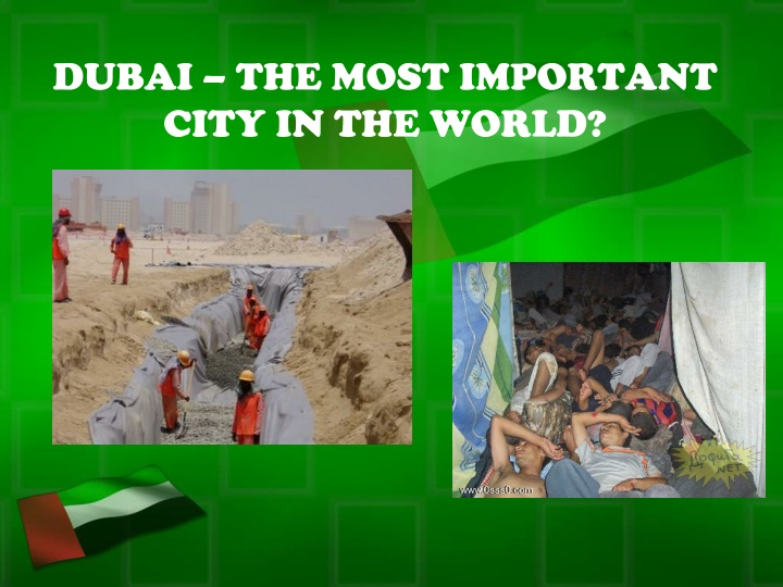 dubai the most important city in the world n.