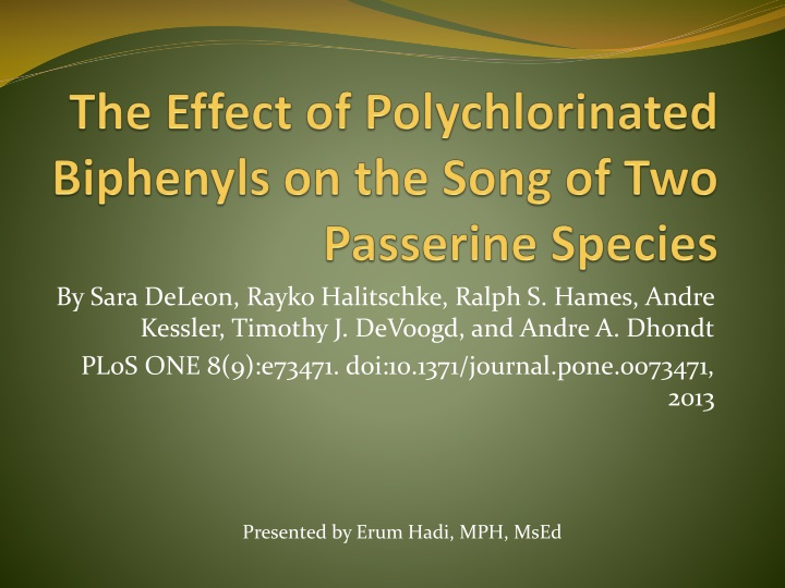 a research on polychlorinated biphenyls or pcb and its effects on the human body Polychlorinated biphenyls, effects of pcb, use of pcb.