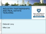 industry partnerships and real estate teaching deborah levy