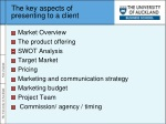 the key aspects of presenting to a client