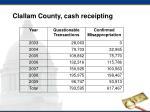 clallam county cash receipting