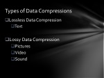types of data compressions