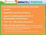 impacts positive