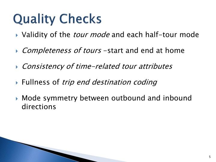 Quality Checks