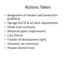 actions taken
