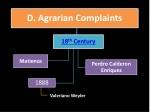 d agrarian complaints