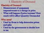 1 elasticity of demand