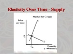 elasticity over time supply