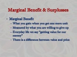 marginal benefit surplusses