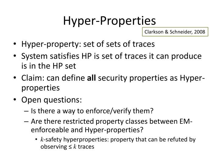 Hyper-Properties