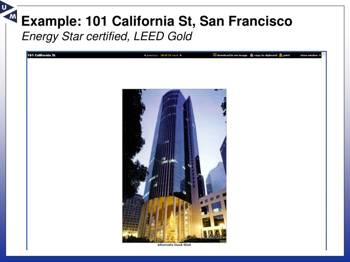 Example: 101 California St, San Francisco