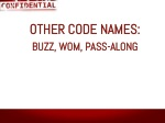 other code names buzz wom pass along