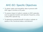 ahc so specific objectives