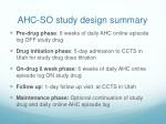 ahc so study design summary
