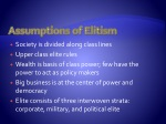 assumptions of elitism