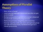 assumptions of pluralist theory